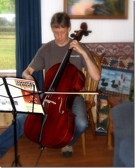 Tim plays cello