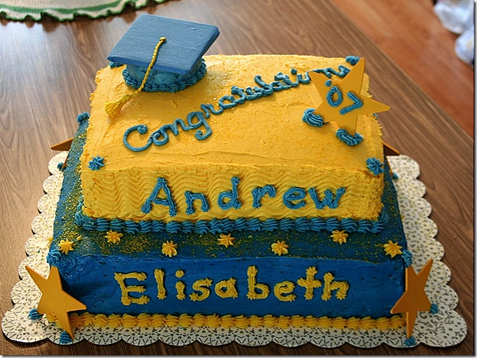 Elisabeth and Andrew's Graduation Cake
