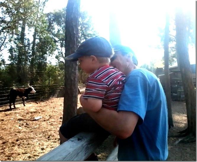 Grandpa holds Brennan
