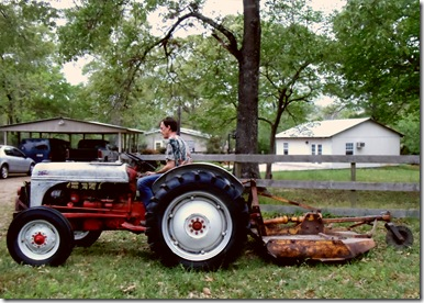 Tim on Tractor