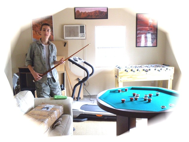 Christian playing pool