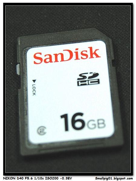 SanDisk 16GB SDHC Class2 評測