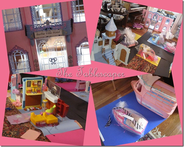 Barbie toys colage