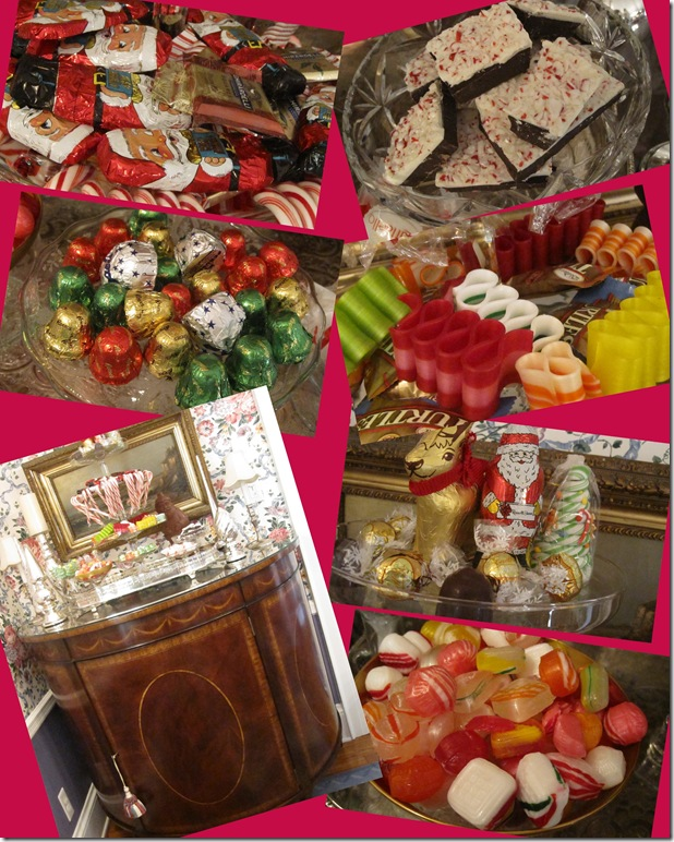 Christmas Candy Collage