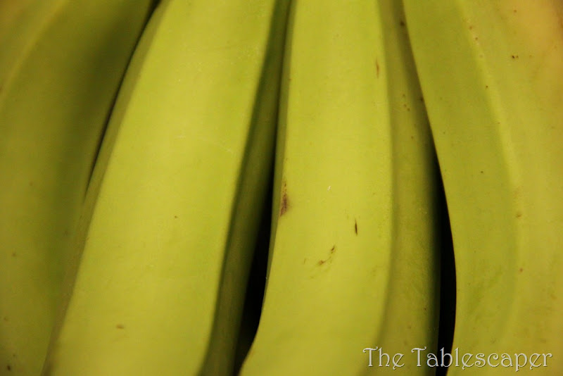 close up bananas