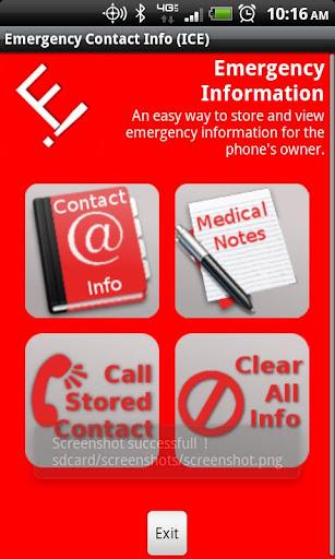 ICE - Emergency Info