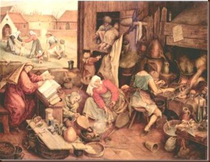 Ζωγραφική απεικόνιση εργαστηριού αλχημείας
