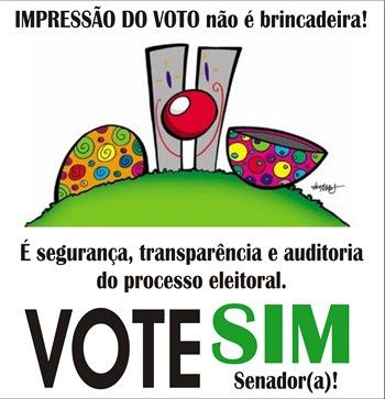 Vote SIM Senador