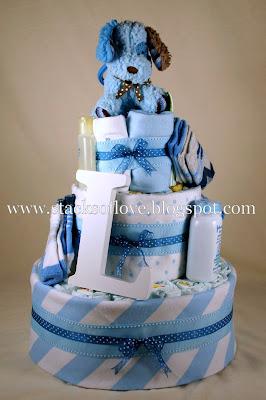 Blue Diaper Cake