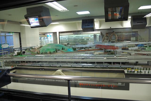 名古屋市科学館・鉄道模型のジオラマの写真