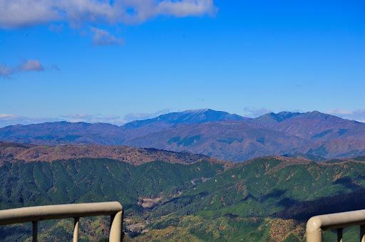 茶臼山の北側の紅葉の写真