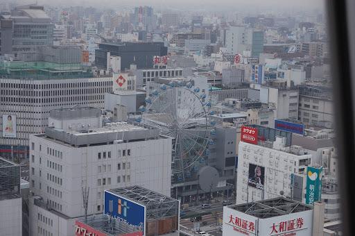 名古屋テレビ塔から見たスカイルの観覧車の写真