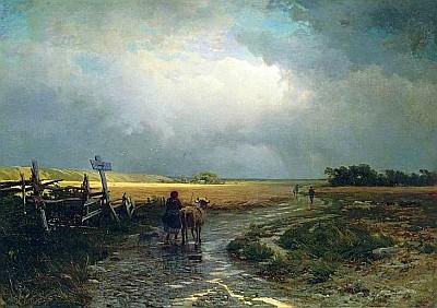Федор Васильев - После дождя. Проселок, 1867-1869