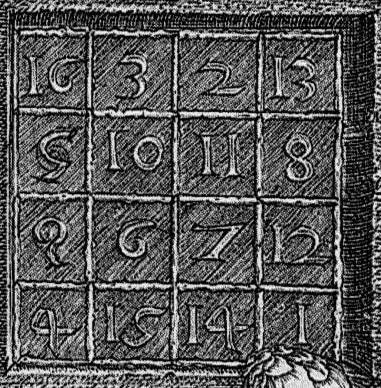 Волшебный или магический квадрат Альбрехта Дюрера