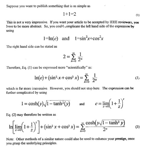 Как создать математическое наукообразие...