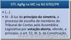 STF. Princípio da Simetria e Votação Secreta Para a Escolha de Conselheiro de Tribunal de Contas do Estado.