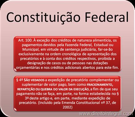 Constituição Federal - Artigo 100. Parágrafo 4º.