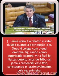 Ministro Marco Aurélio HC9551 Distrituição do Feito