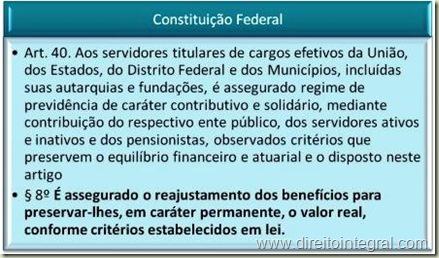 Jurisprudência. STF. Constituição Federal, art. 40, §8º.