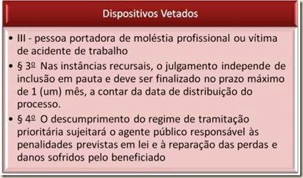 Lei 12008/09. Veto do Presidente da República. Processo Administrativo.