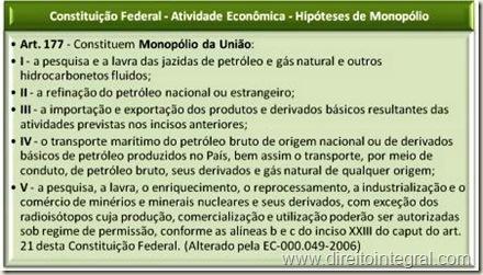 Constituição Federal - CF - Art. 177 - Atividades Econômicas Sob o Monopólio da União.
