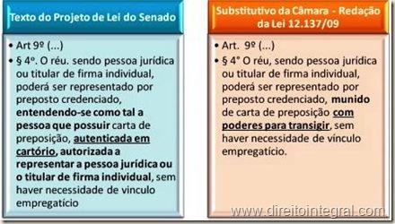 Lei 12139/09. Carta de Preposição. Reconhecimento de Firma. Dispensa. Redação Primitiva e Final do Projeto.