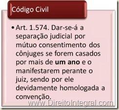 Código Civil 2002, art. 1574 - Separação Consensual.
