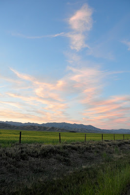 Idaho evening sky, near Fairfield