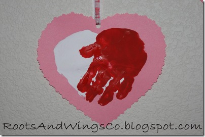 valentine heart handprint 8