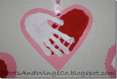 valentine heart handprint 9