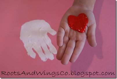 valentine heart handprint 2