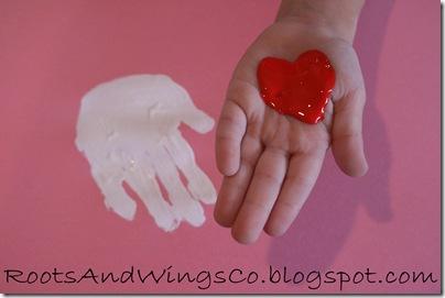 valentine heart handprint 2