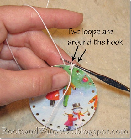 10 pull string through both loops