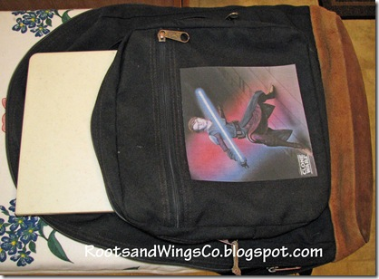 4 iron picture onto backpack