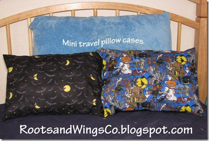 Mini travel pillow cases