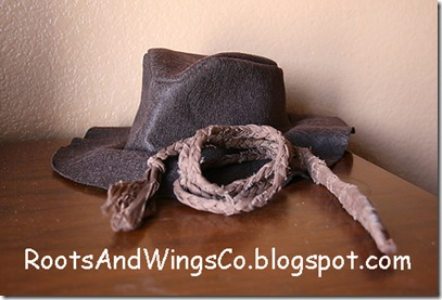 indiana jones party hat and rope