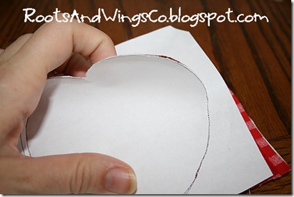 7 peel off paper and trim up thread