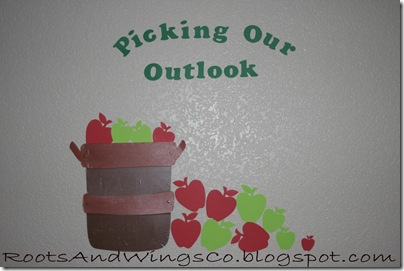 september bulletin board apples basket
