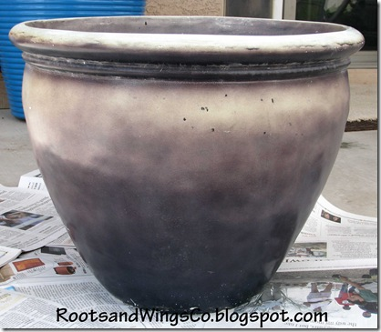 Faded blue pot