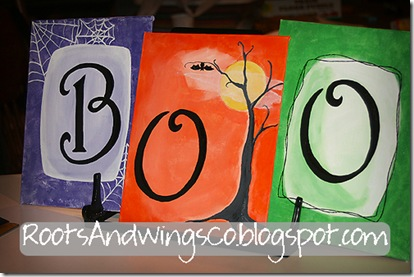 BOO canvas paintings