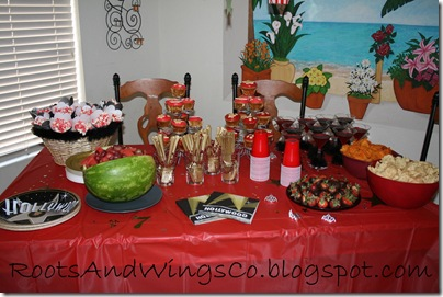 movie star party food table