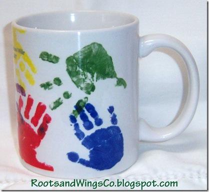 Hand print mug view 2
