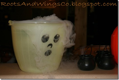 halloween party dry ice bucket