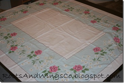 vintage tablecloth remake b