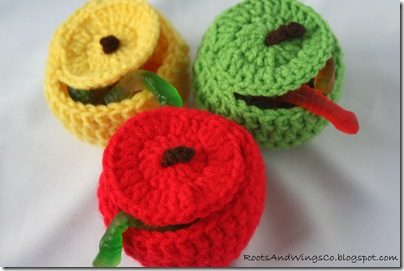 crocheted apple a