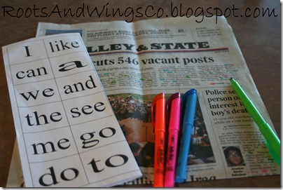 preschool word search