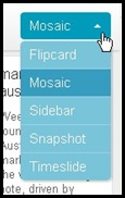 blogger diferent views of blog mosiac flipcard snapshot slide