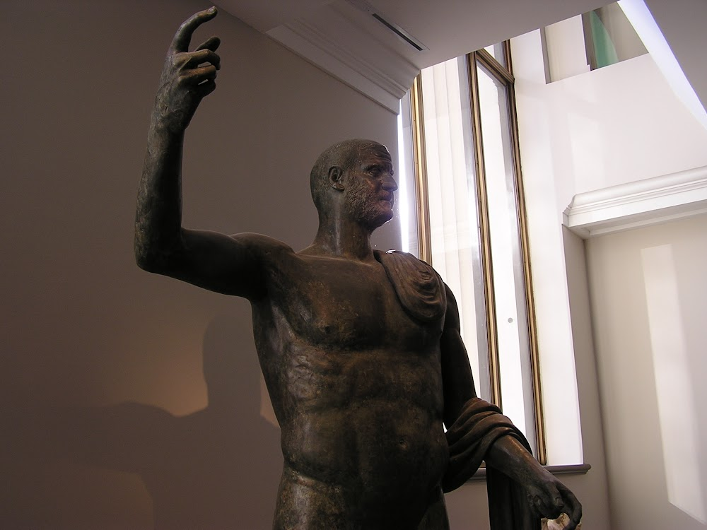 Trebonanius Gallus: completely unrelated. (Photo of the emperor at the Met <a href='http://commons.wikimedia.org/wiki/File:Trebonianus_Gallus_bronze_medium_view.jpg'>CC</a> by Pharos.)