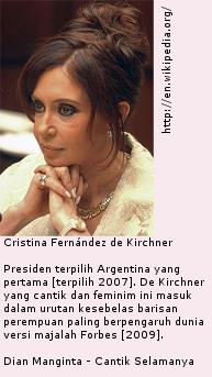 Cristina Fernández de Kirchner - Presiden Argentina - Cantik Selamanya