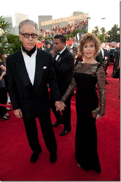 Jane Fonda and Richard Perry attend the 68th Annual Golden Globe Awards at the Beverly Hilton in Beverly Hills, CA on Sunday, January 16, 2011.